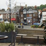 One of the views of Whitby town from the restaurant's bay window.