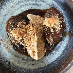 Pork cheek, caramelised cauliflower, almonds