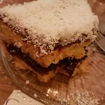 nutella and coconut tart
