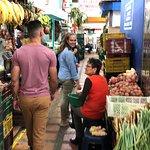 Walking through the market