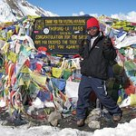Mr Bin ours best Guide on Top of Throng pass 5416 Mts.