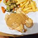 chicken breast with peppercorn sauce