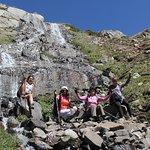 Cascada, Hike Laguna delos Patos & Termas del Plomo.