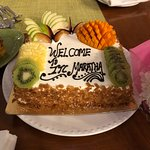 A fruit cake; Thanks team Maratha for the wonderful gesture