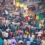 As caóticas ruas de Old Delhi.