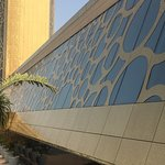 Detail on the Dubai Frame, ground level.