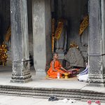 Monk blessing in Angkor Wat