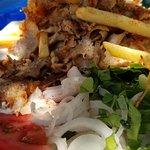 Gyros Plate, Souvaki Club, Folegandros
