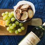 wine and cheese in your room (part of upgrade package)