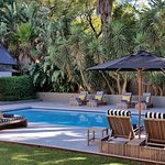 Pool and comfortable loungers at AtholPlace Hotel