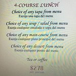 4-Course Lunch Menu