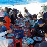 Salar de Uyuni - Hora del Almuerzo