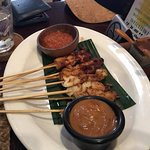 Sate - fish was ok but the chicken was tough
