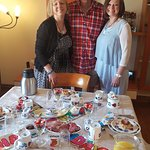 The thoughtful ' birthday party' decor with Mary, Gerard and Barb