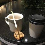 Servicio de café con cookies