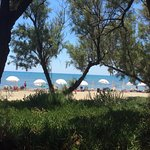 view from beach restaurant