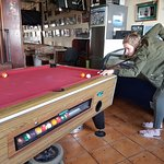 Me and the good lady having a game of Pool in Paradise.