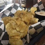 Chips and house made blue cheese dip