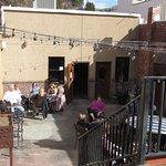 Outside bar seating