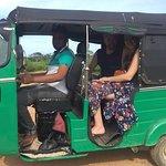 This is us on the Tuk Tuk Safari with Imam