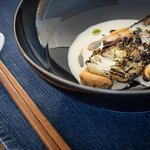 Hispi Cabbage, Deonjang + Mussels (Photo: John Blackwell Photography)