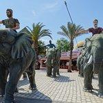 Sculptures d'éléphants