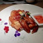 Crispy chicken at Man Ho Restaurant