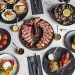 Sharing steak feast