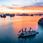 Sunset aboard Emperor Cruises Halong Bay, Vietnam