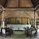 This is the main lodge building. It serves as the lobby, dining hall, and hang out space. Amazin