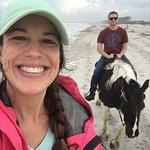 Amelia Island Horseback Riding - husband is on Whoopie.