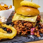 Chilli Burger - 100% beef burger with cheese and lashings of our delicious homemade chilli con c