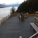 circuit aménagé face au Perito Moreno