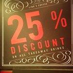 25% Discount on Takeaway