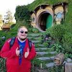 This is in front of Frodo and Bilbo's house.