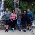 Our Dear Guests (background Borjomi Waterfall)