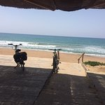 We love travelling and discover with bikes! View from Thines beach
