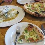 Pizza and tortellini