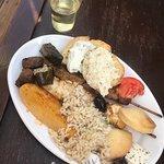 The homemade Greek dinner!