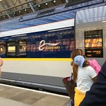 Eurostar departure to Paris
