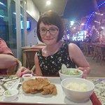 Enjoying a Chicken Schniezel