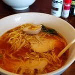 Spicy Chicken Ramen.  (not on the menu, but just ask)