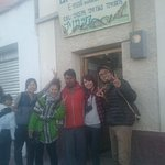 Our office in Uyuni with friends from Japan