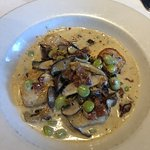 my scallops, lima beans, and mushrooms...OMG!!! Great!!!!