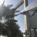 Close-up of the Dubai Frame, ground level.