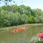 Exercise kayaking on Neajlov river, 30 km far from Bucharest