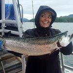 Prairie Lady's first Salmon