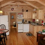 The kitchen in the Owl' Nest Cabin