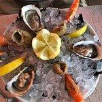 Assiette de fruits de mer...d une fraîcheur 👍 Homard bleu un régal
