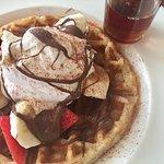 Strawberry, Banana & Nutella Waffles!